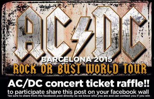AC/DC Barcelona Concert 2015, Ticket Raffle • WIN A FREE TICKET