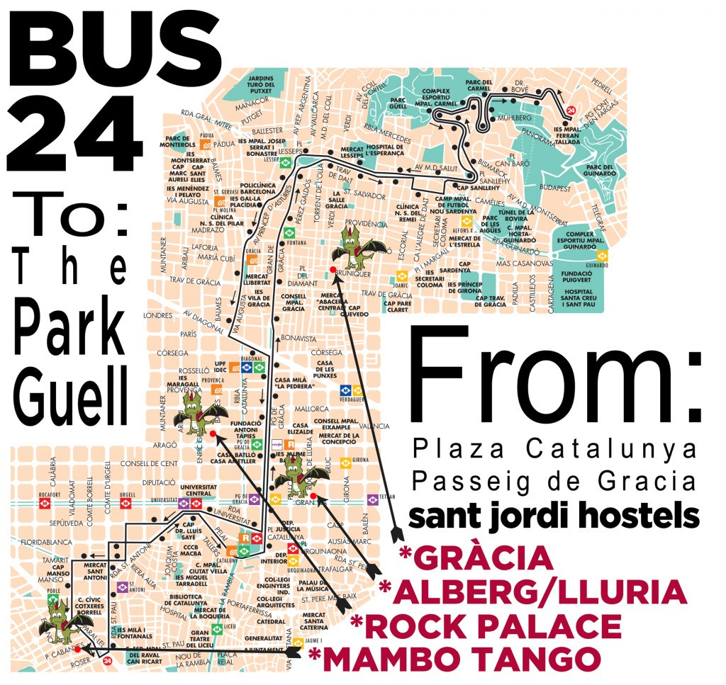Things To Do In Barcelona The Park Guell Sant Jordi Hostels