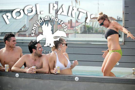 Barcelona Hostel Activities_pool party at Sant Jordi Hostels Barcelona