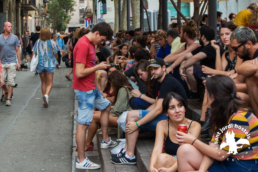 street party at the festa major de gracia