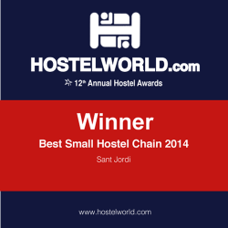 HOSCAR award 2014 best small hostel chain