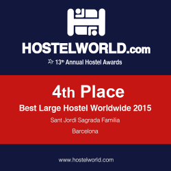 HOSCAR Awards - 4th best large hostel worldwide 2015