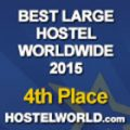 HOSCAR award 2015 4th best large hostel world wide