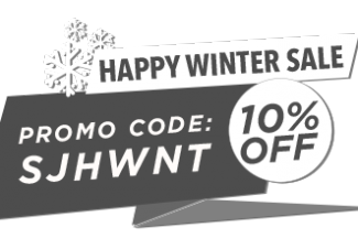 winter discount promo banner