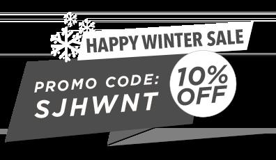 winter discount promo banner