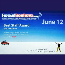 Hostelbookers Best Staff Award 2012