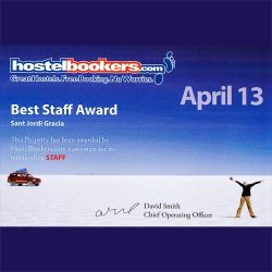 best staff award 2013 hostelbookers april