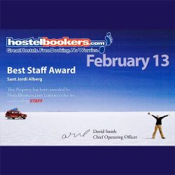best staff award 2013 hostelbookers
