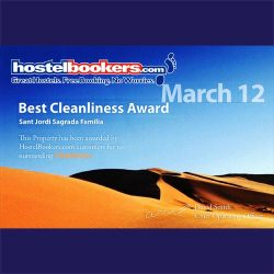 Hostelbookers Best Cleanliness Award 2012