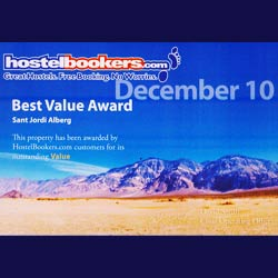 Hostelbookers Best Value Hostel Award December 2010 Hostel Alberg