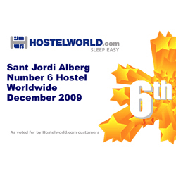 Hostelworld Award 2009 - 6th best hostel in the world