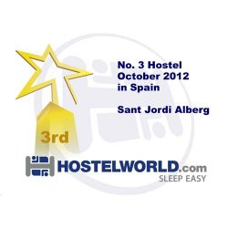 Hostelworld Hostel Award October 2012 Lluria/Alberg