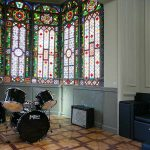 Stainedglass Lounge Room - Rock Palace Hostel Barcelona