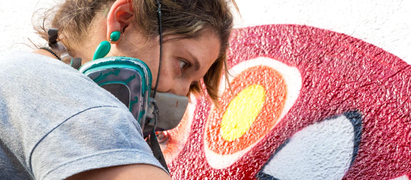 Paula Plim grafiti banner photo
