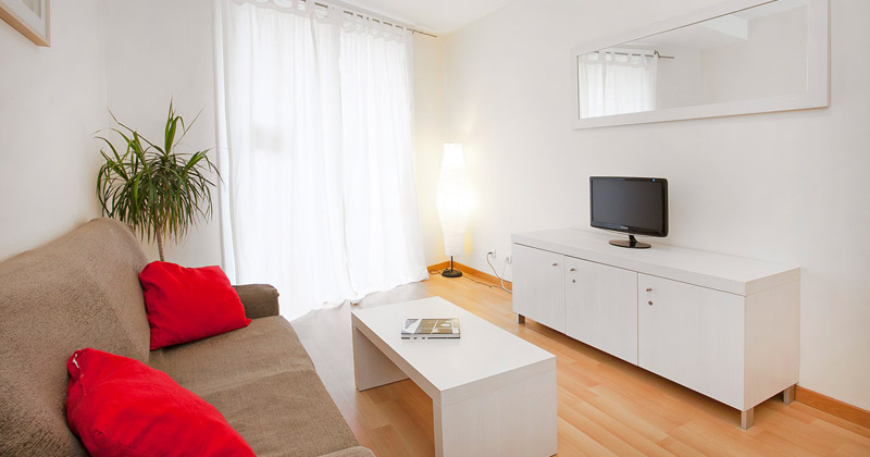 living room - apt sagrada familia apartments by sant jordi hostels