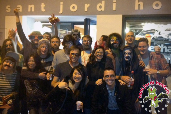 sant jordi hostels barcelona halloween 2012