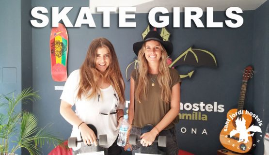 skater girls at the barcelona skate hostel