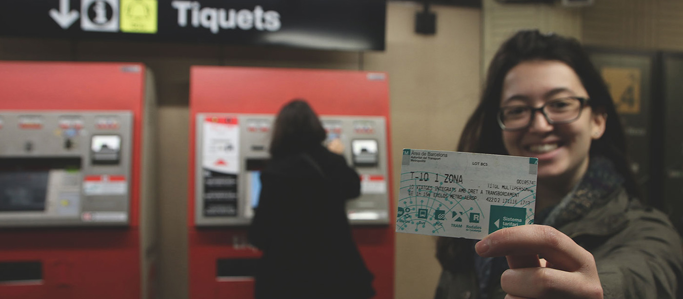 using the metro in barcelona - t10 ticket is the best