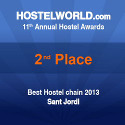 HOSCAR awards 2013 2nd best hostel chain worldwide