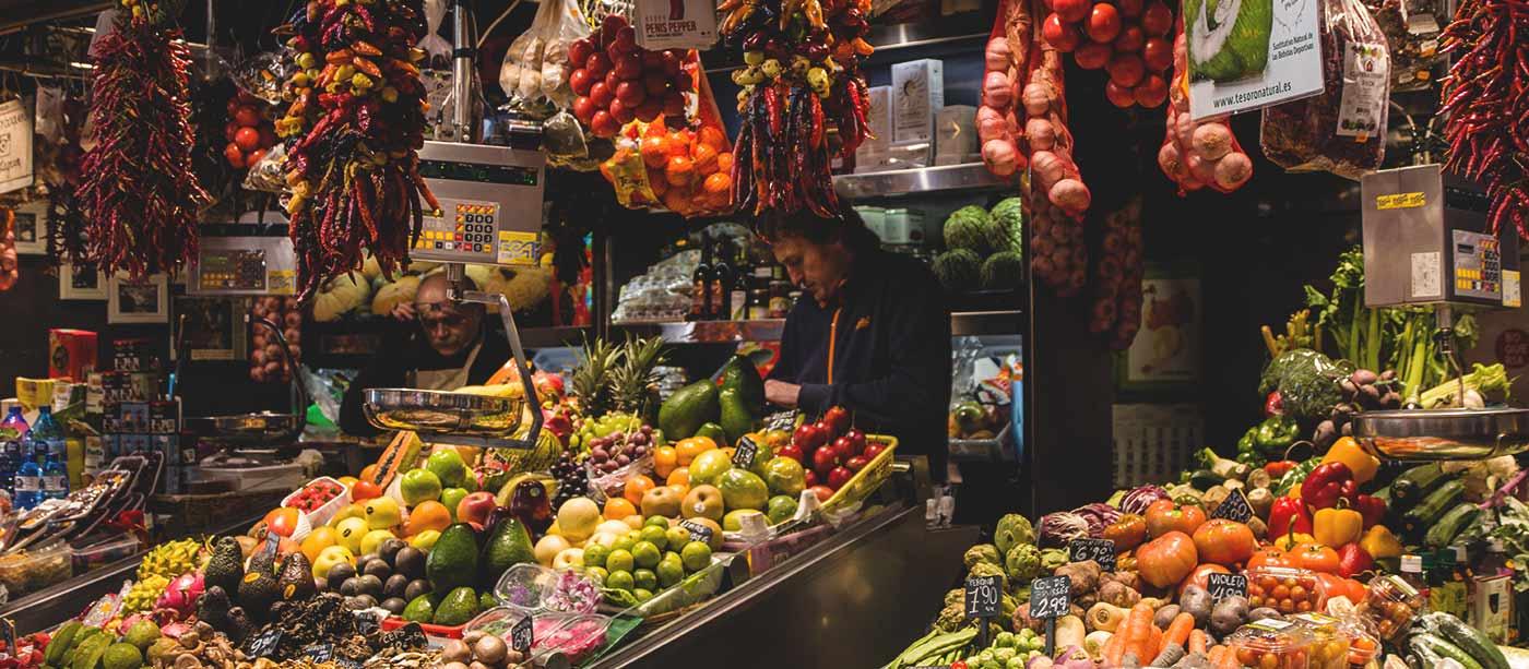 La Boqueria Market Barcelona - fruits and vegetables