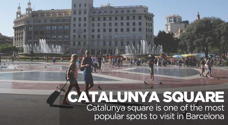 Catalunya Square in Barcelona  Sant Jordi Hoste