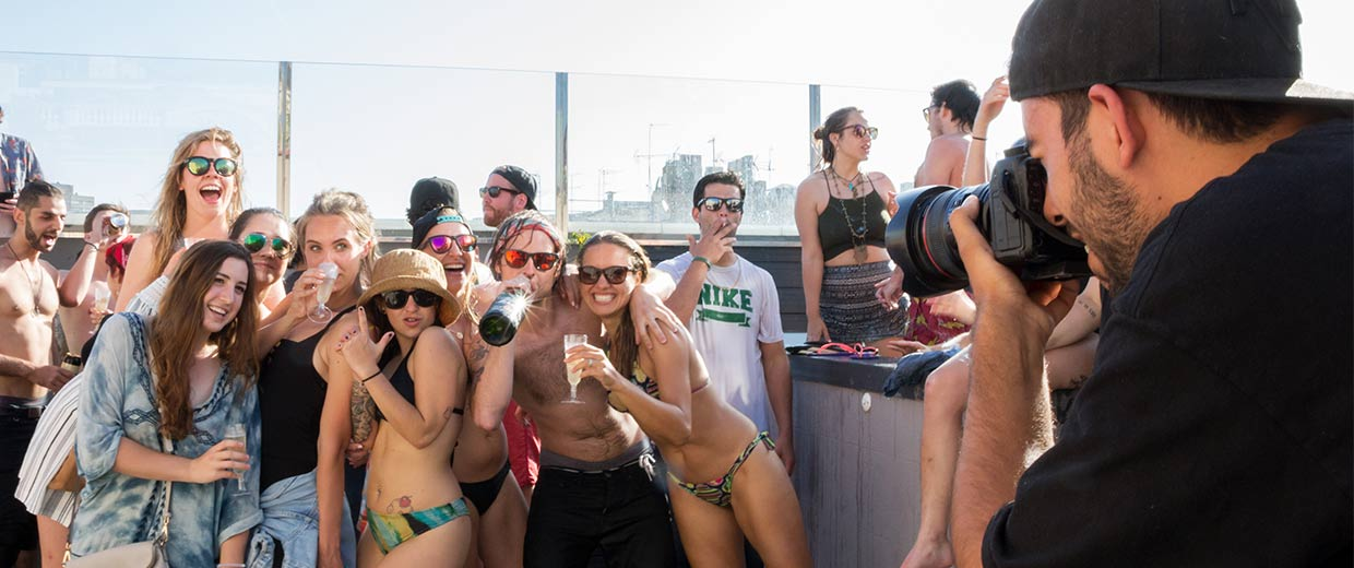 barcelona hostel pool party 2016