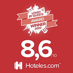 Hoteles.com 2020 loved by guests award