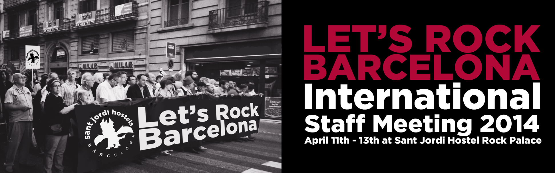 international hostel staff meeting 2014 Lets rock Barcelona