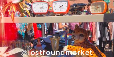 Vintage items at Lostfound market Barcelona