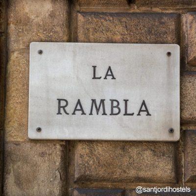 La Rambla street sign